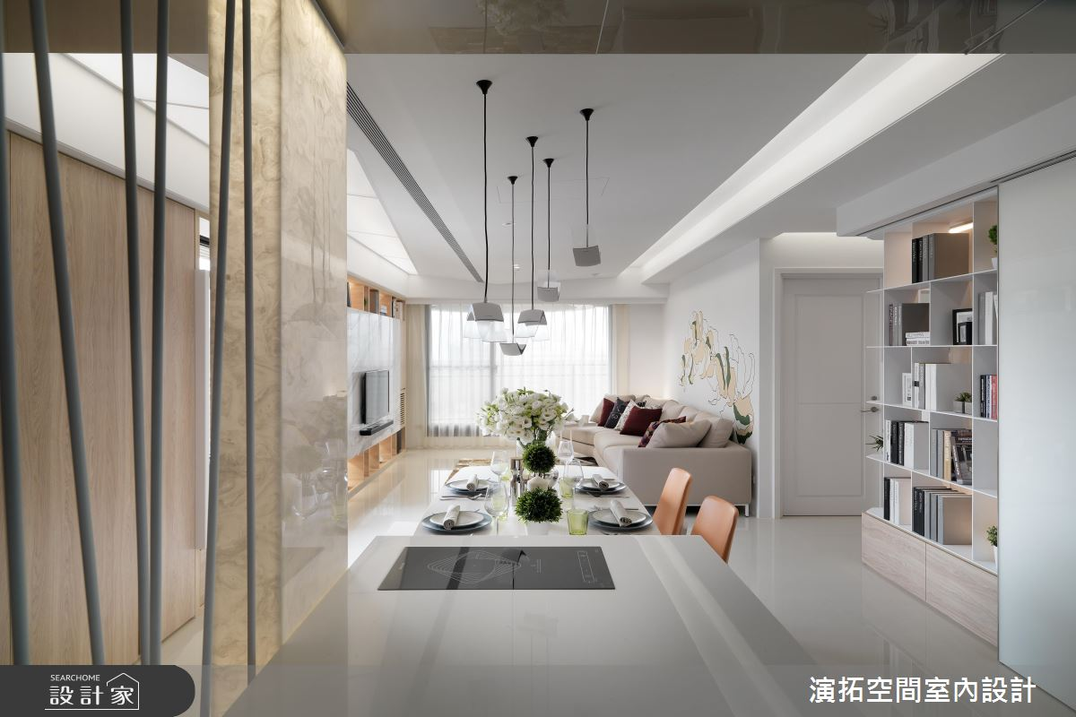 用牆面設計構築居家美景!36 坪的白色...