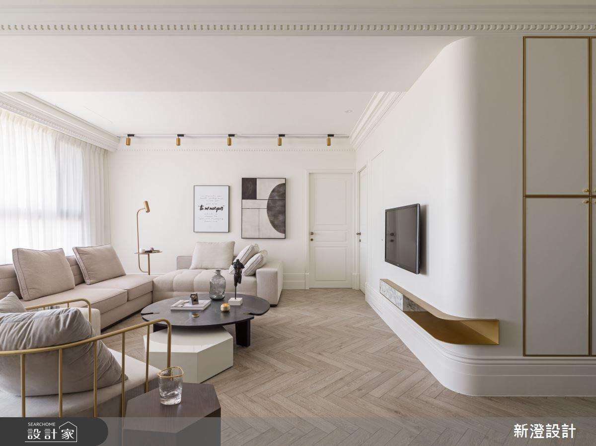 純白、暖木、黃銅,35坪白系光感輕美式風住宅
