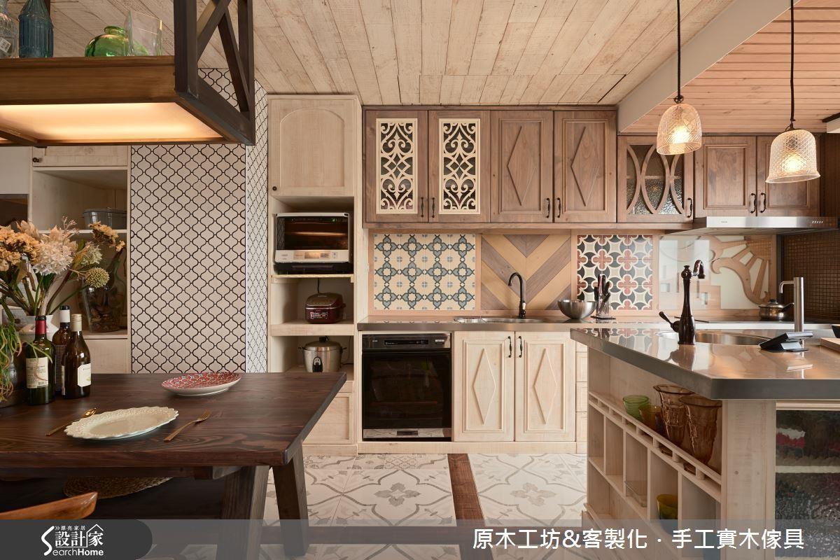 餐廚設計「瘋」原木,成就家裡美...