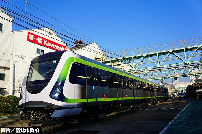 中捷綠線列車亮相 下月中運抵台灣