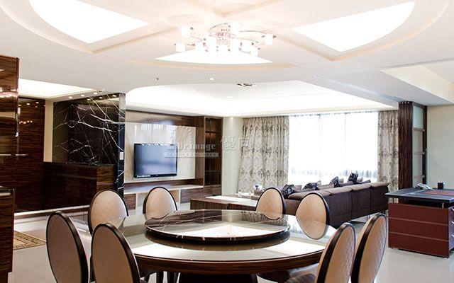 餐廳、書房、客廳開放空間