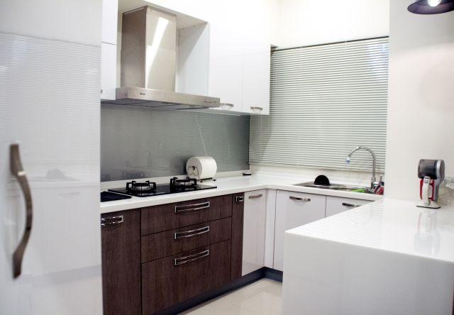 ▲廚房空間以白色基調為主