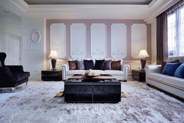 ▲客廳豪邁大器高雅奢華的古典風格氛圍