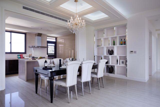 ▲餐廳廚房採開放設計整體空間視覺寬敞